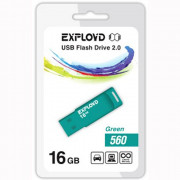 Флеш диск 16GB USB 2.0 Exployd 560 зеленый