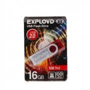 Флеш диск 16GB USB 2.0 Exployd 530 красный