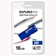 Флеш диск 16GB USB 2.0 Exployd 580 синий