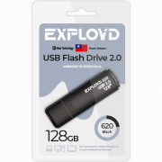Флеш диск 128GB Exployd 620 USB 2.0 пластик черный