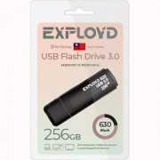Флеш диск 256GB Exployd 630 USB 3.0 пластик черный