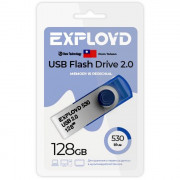 Флеш диск 128GB Exployd 530 USB 2.0 пластик синий