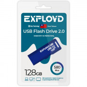 Флеш диск 128GB Exployd 580 USB 2.0 пластик синий