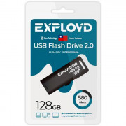 Флеш диск 128GB Exployd 580 USB 2.0 пластик черный